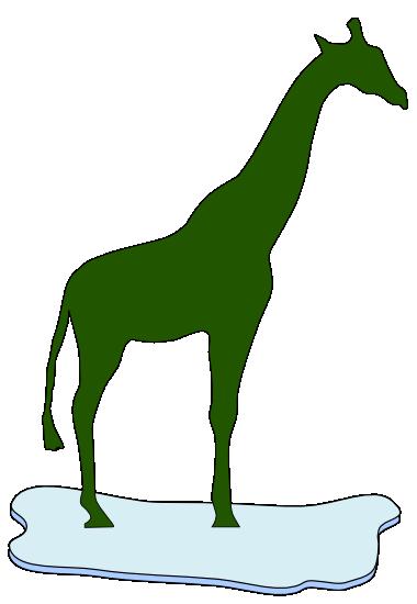 Giraffe auf einer Eisscholle